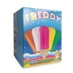 Confezione da 24 Ghiaccioli gusti assortiti con succo di frutta senza  coloranti 1,68kg Freddy