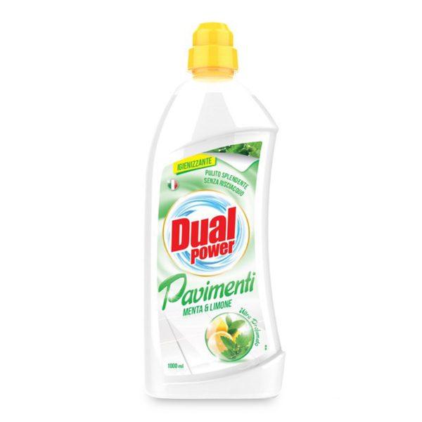 Detergente pavimenti menta e limone 1L Dual Power