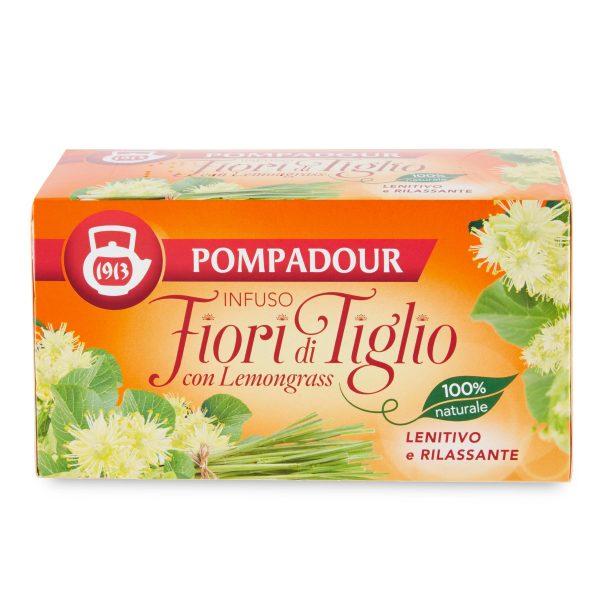 Infuso fior di tiglio con lemongrass lenitivo e rilassante 20 filtri Pompadour