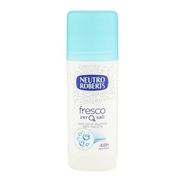 Deodorante stick fresco blu 40ml Roberts