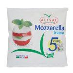 Mozzarella busta famiglia 5x100g Alival