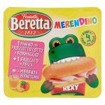 Merendino :panino con prosciutto cotto ed edamer+frullato pesca 125ml Beretta