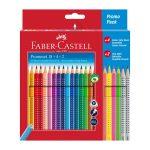 18 matite acquerellabili + 4 grip + 2 grafite