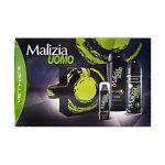 Confezione regalo uomo c/beauty Vetyver Malizia:  1 edt deodorant,1 gel doccia shampoo,1 schiuma