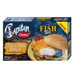 Fish & Chips Burger 100% Filetti di Merluzzo D'Alaska con guscio di patatine 227g Findus