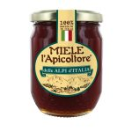 Miele delle Alpi d'Italia vaso di vetro 375g L'Apicoltore