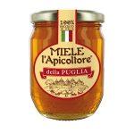 Miele della Puglia vaso di vetro 375g L'Apicoltore