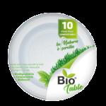 Piatti piani bioplastica 220m 10 pezzi Biotable