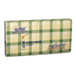 Tovaglioli di carta scozzesi verdi 100x100 30pezziAstor